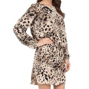 Vince Camuto Longsleeve Animal Fresco Shirt Dress